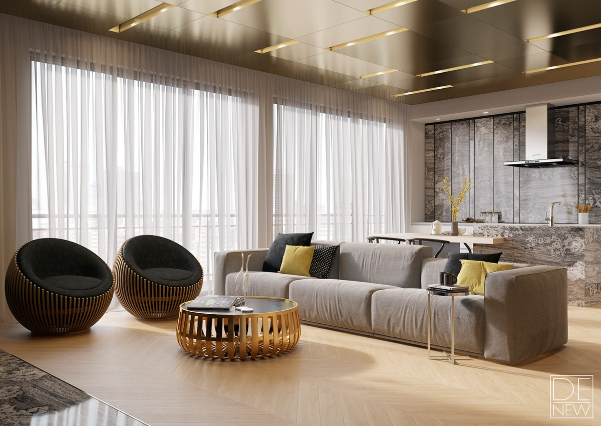 brass-themed-apartment